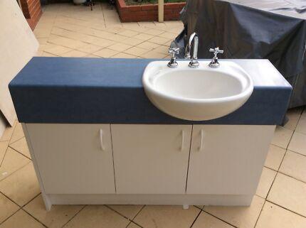 White Bathroom Cabinet Vanity Cabinets Gumtree Australia