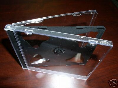 100 NEW DESIGN DOUBLE CD JEWEL CASES WITH BLACK TRAY Cd Jewel Case Design