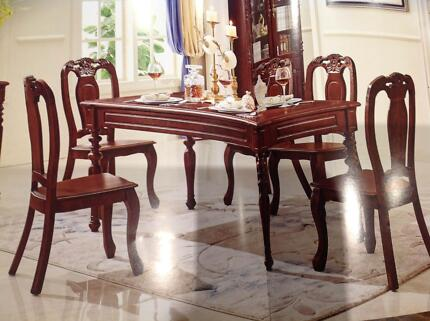 Brand New 7 Pieces Dining Table Set - Reproduction Antique Stytle