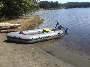 Dingy or Punt comes with electric motor and battery