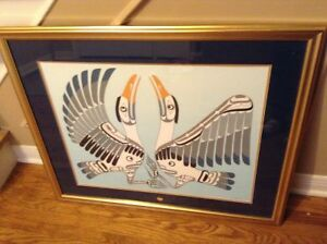 Signed and numbered native print by Calvin Hunt for sale London Ontario image 1