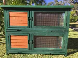 Deluxe Double Somerzby Rabbit breeding Bank Hutch Somersby Gosford Area Preview