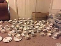 Mixed vintage China tea party set. 400+ items! Wedding, party