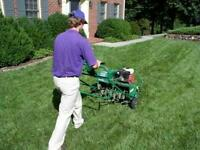 LAWN CORE AERATION! AVERAGE PRICE JUST $30 FRONT AND BACK LAWN!