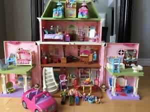 Fisher Price Loving Family Grand Doll House w 9 furniture sets