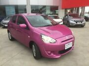 2013 Mitsubishi Mirage LA MY14 ES Pink 1 Speed Constant Variable Hatchback Ravenhall Melton Area Preview