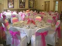 Chair covers and centre pieces