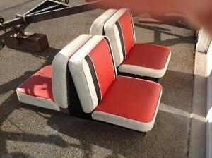 Nice boat seats from classic fibreglass boat