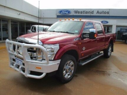 2014 Ford F350 Red Automatic Utility