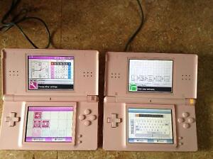 TWO NINTENDO DS LITES W/GAMES