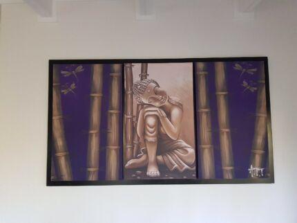 Very large buddha canvas