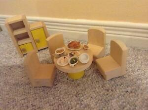 Wooden Dolls House Furniture - Dining Room