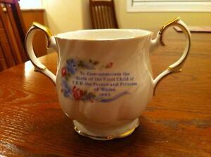 Tea cup and Loving cup commemorating the birth of Prince William Strathcona County Edmonton Area image 5