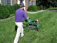 Lawn Core Aeration, Exterior Window Cleaning