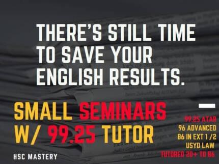 HSC English Crash Course: 99.25 ATAR, 96 Advanced, 20+ToBand6