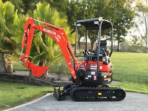 Mini Excavator Hire - only $165* a day for the latest Kubota's.