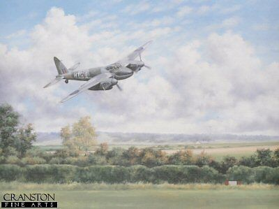 world war two aviation art print  Mosquito Fighter bomber Royal Air Force