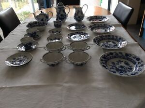 Antique blue and white dishes Essendon Moonee Valley Preview