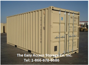 20FT NEW BEIGE SHIPPING CONTAINERS WITH WELDED LOCKBOX
