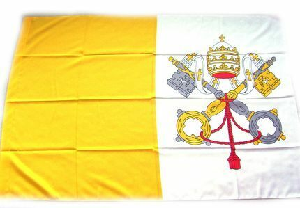 Vatican Flag, 4 1/2 ft. x 3 1/8 ft., Made in Italy