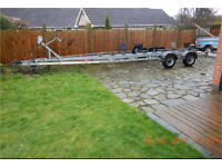 Twin axle boat trailer 3500kgs up to 28ft