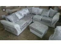 Stunning Velvet Shannon sofa with FREE FOOTSTOOL