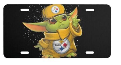 Baby Yoda Steelers Aluminum license plate