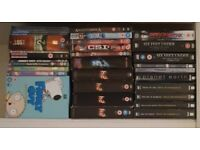 Family guy, 24, csi, lost, prison break etc dvds
