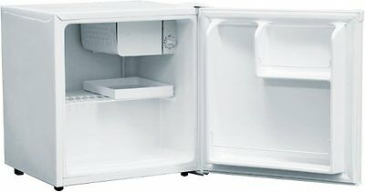 AMICA FM0613 Small Mini Compact White Table Top Fridge & Ice Maker Compartment