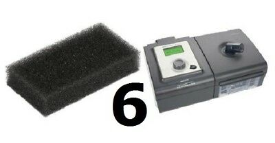 6 Reusable Foam Filters for Respironics PR System One REMstar SE CPAP BiPAP (Bipap Systems)