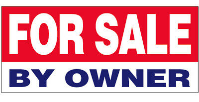 For Sale By Owner Vinyl Banner Shop Sign 2X4 Ft   Wb