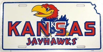 Kansas University Metal License Plate Ku Jayhawks L594