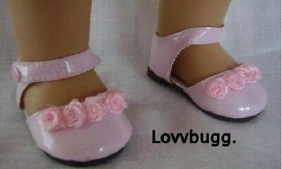 "Pink Flower for 18"" American Girl or Bitty Baby Doll Shoes Clothes"