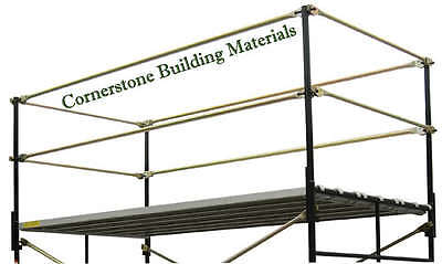 A Set Fall Protection 5' X 7' Commercial Scaffolding Guard Rail System Cbm