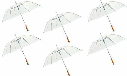 """6PK 54"""" Clear Umbrella"""