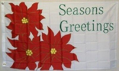 3x5 Merry Christmas Seasons Greetings Flag 3'x5' House Banne
