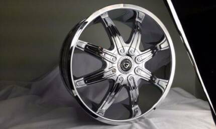 1X 20 inch NEW CHROME wheels suits COMMODORE,FALCON,BMW3,2WD