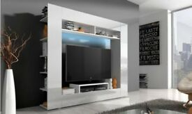 Brand New! FREE DELIVERY WALL UNIT IN HIGH GLOSS&LED in white colour
