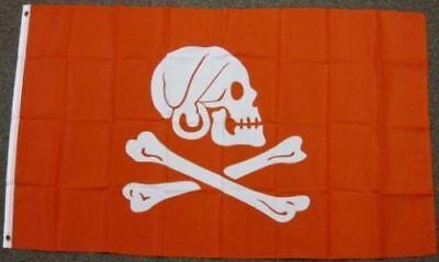 Henry Avery Red Pirate Flag Jolly Roger Skull Crossbones Banner Ship 3x5 Foot