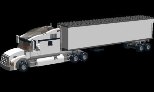 Lego Tractor Trailer : Lego tractor trailer ebay