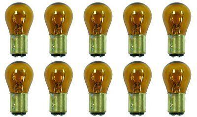 (Pack of 10) 1157NA Natural Amber Light Bulb Auto Car Miniature Lamp 12v Yellow
