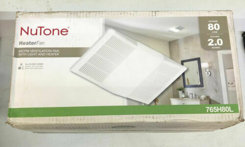 NuTone 765H80L 80 CFM 2 Sone Ceiling Mounted Exhaust Fan With - White