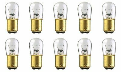 10x 1004 12v Light Bulb Auto Car Brake Stop Signal Turn Tail Lamp Marine B6 Lot Double Contact Index Bayonet Base