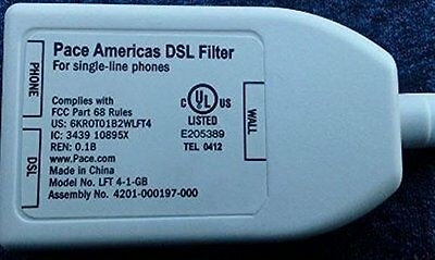 Pace Americas DSL Filter Single Line Phone with Dual Adapter