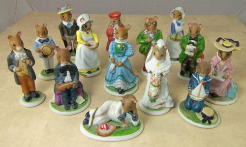 Woodmouse family figurines ebay