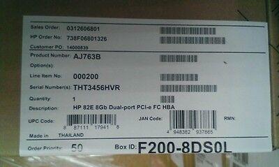 Hp 82e 8gb Dual-port Pci-e Fc Host Bus Adapter Aj763b 3