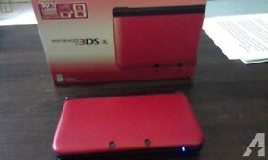 3DS XL RED. COMES WITH 5 GAMES!