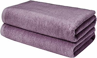AmazonBasics Quick-Dry Bathroom Towels, Bath Sheet, Lavender