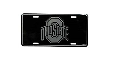 Ohio State Buckeyes License Plate Elite Black Tag Car Truck Wall Sign FAST SHIP