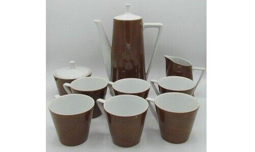 Harmony House 3905 Teakwood Coffee Tea Set Mid Century Modern Espresso - 11 pc